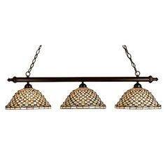 You'll love the Tiffany Diamond and Jewel 3-Light Pool Table Light at Wayfair - Great Deals on all Lighting products with Free Shipping on most stuff, even the big stuff.