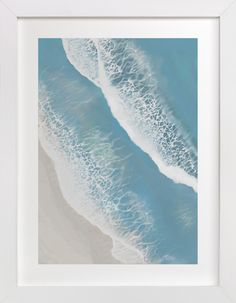"""Foam From Above"" - Art Print by Melanie Shaul in beautiful frame options and a variety of sizes."