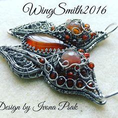 Wire work by me, design by Ivona Psak. #imnium #wingsmith2010 #madeintheuk #wirewrappedjewelry