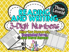 3-Digit Place Value and Expanded Form Freebie - place value block cards with charts for students to write the number in 3 forms. There are 3 levels so you can push kids that need a challenge!
