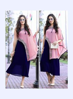 Check out the online collection of Women Indo Western in the Catalog 6619 at Indian Cloth Store. Get Catalog 6619 of Women Indo Western in various designs, colors & sizes. Indian Gowns Dresses, Pakistani Dresses, Kurta Designs, Blouse Designs, Latest Kurti Designs, Indian Designer Outfits, Indian Outfits, Stylish Dresses, Fashion Dresses