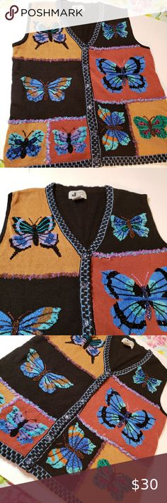 Cardigan Shawl Duck Clips//Clasps Antique Bronze lg Butterfly Sweater Blouse