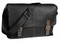 Editor's Sale Picks: Men's Boconi Double Buckle Black Leather Messenger Bag