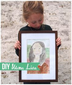 how to paint your own MONA LISA ( painting by Leonardo da Vinci ) #tutorial #diy #kidsart