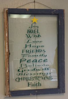 Old Vintage Window Christmas Personalized by VaughnCustomCreation, $50.00. Holidays. Christmas decor. Christmas gift. Noel. PERSONALIZED! CUSTOM ORDERS!