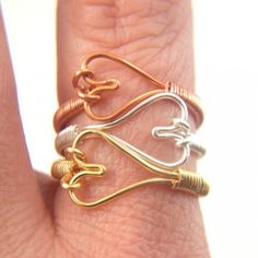 Handmade Wire Wrapped Rings | Heart Shaped Ring Handmade Silver Wire Wrapped Valentine Jewelry non ...