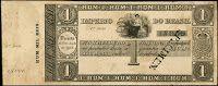 ANVERSO UNIFACE; Valor facial: 1000 réis; Ano de emissão: 1844; Órgão emissor: Tesouro Nacional; Empresa impressora: Perkins, Bacon & Petch; 2ª Estampa