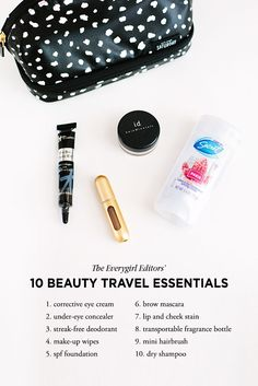 Editor's Picks: 10 Travel Beauty Essentials #theeverygirl