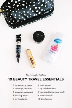Editor's Picks: 10 Travel Beauty Essentials