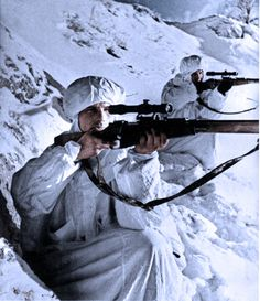 https://flic.kr/p/dcHUwP | Soviet snipers - Leningrad front WW2 | colorized using photoshop