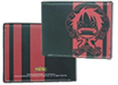 One Piece Wallet - Luffy Red/Black