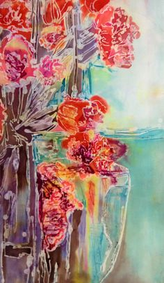 """""""Satisfying finish"""" Another of my creation, Batik on silk!"""