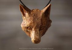 """2,414 Likes, 56 Comments - Giles Newman (@giles__newman) on Instagram: """"Another new Fox pendant. Hand carved in English Oak. 4cm (1.5in) from the top of the ears to the…"""""""