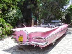 Pink 1959 Chevrolet Impala convertible...