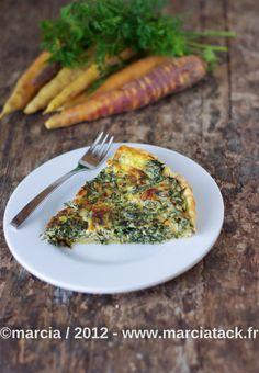Quiche aux fanes de carottes et fourme dambert - Recette - Marcia Tack