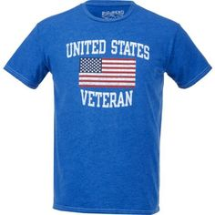 Big Bend Outfitters Men's United States Veteran T-shirt (Navy, Size Large) - Men's Outdoor Apparel, Men's Outdoor Graphic Tees at Academy Sports