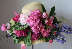 Lavender Cottage: Easter Bonnets and Baskets Tea Hats, Tea Party Hats, Cloche Hats, Real Flowers, Beautiful Flowers, Lavender Cottage, Vintage Headbands, Fancy Hats, Flower Hats