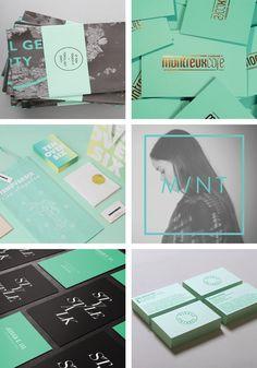 Mintgroen Branding Inspiration | Mint Green Branding | OCHER