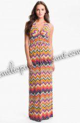 Online EMILIO PUCCI Patio Halter Stripe Maxi Dress