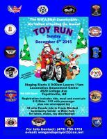 Fayetteville, AR - Dec. 6, 2015: NWA Bikers Annual Toy Run. NW Arkansas Biker Communities are uniting for the Annual Toy Run Parade!