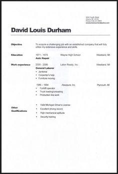 General Labor Warehouse Resume Sample Resume Examples Job Resume Samples Resume Objective Examples