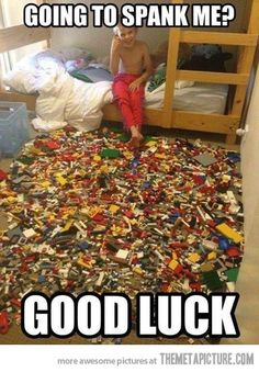 "Ha! My boy, whose room sorta looks like this, stares at the picture and says, ""He's got some good pieces."""