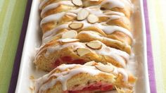 Cherry-Cream Cheese Coffee Cake...uses Pillsbury® refrigerated Crescent Dinner Rolls or Pillsbury® Crescent Recipe Creations® refrigerated seamless dough sheet