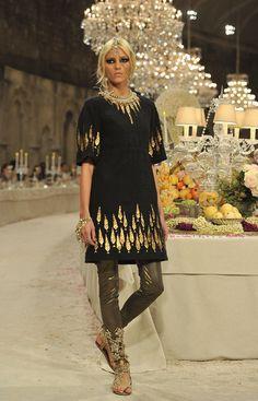Anja Rubik, París-Bombay, Haute Couture, Chanel.