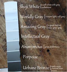 Our paint colors--an