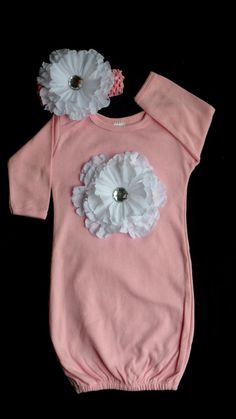 Take Home Outfit Layette Gown Baby Girl Clothes by LilMamas