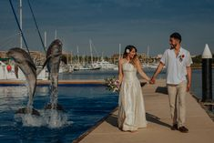 #weddingphotos #animalencounter Wedding Blog, Destination Wedding, Wedding Photos, Dream Wedding, Unique Weddings, Dolphins, Adventure, Animals, Marriage Pictures