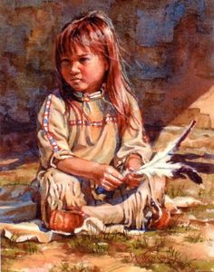 """""""Lost in Thought"""" by Sonya Terpening - model Bailey Clay, age 4"""