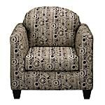 "The Dazzle Accent Chair will sure do just that.  It's eye-catching earth tone circle and dot pattern adds a little excitement to your room without it being too loud.  The Dazzle Accent chair goes perfectly with the Dazzle Sofa and Loveseat Package.  The chair has an off the floor design and measures 35""W x 38""D x 34""H."
