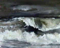 The Baltic Ocean Study - Original Oil Painting