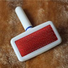 Trasporto libero rosso del cucciolo del gatto dei capelli governare slicker pettine gilling pennello rapido strumento di clean pet brand new(China (Mainland))
