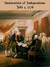 Declaration of Independence by: The thirteen united States of America Resentful of their government's abuses and usurpations, thirteen colonies unitedly declared their right to become independent States.