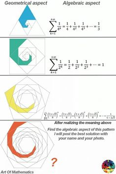 Sums of Fractions Geometry Formulas, Mathematics Geometry, Physics Formulas, Physics And Mathematics, Algebraic Geometry, Fractal Geometry, Sacred Geometry, Statistics Math, Math Vocabulary