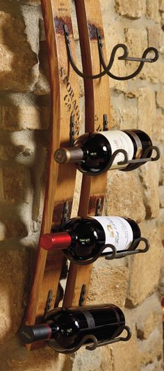 Handcrafted from authentic French oak wine barrels, our Reclaimed Wine Rack has been made into elegant decor.