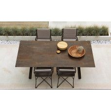 Hamptons Graphics Gartentisch Mit Glasplatte 260 110 Cm Von