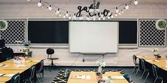 elementary classroom decor black and white classroom from schoolgirl style Elementary Classroom Themes, Classroom Decor Themes, 3rd Grade Classroom, High School Classroom, Classroom Walls, New Classroom, Classroom Setup, Classroom Design, Science Classroom