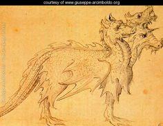 Design of a dragon costume for horse - Giuseppe Arcimboldo - www.giuseppe-arcimboldo.org