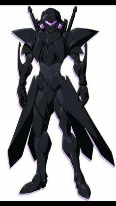 Accel World Blue Knight Robot Concept Art, Weapon Concept Art, Armor Concept, Fantasy Character Design, Character Concept, Character Art, Futuristic Armour, Futuristic Art, Fantasy Armor