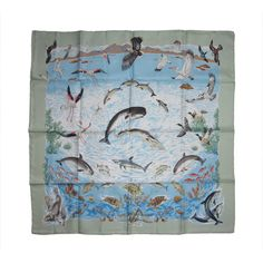 1stdibs | Hermes La Vie Precieuse De La Mediterranee Silk Scarf