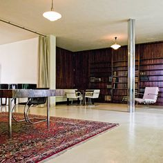 Modern open plan living at it's inception. Mies van der Rohe House Tugendhat - Brno