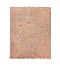 An Anatolia Ushak carpet end 19th century.Overall slight wear.  from Cambi Casa d'Este