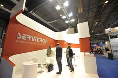 Stand by Servis - Matelec (stand builder Barcelona, Spain, Europe) Hall Design, Signage Design, Stand Design, 3d Design, Exhibition Stall Design, Exhibition Stands, Exhibit Design, Expo Stand, Temporary Architecture