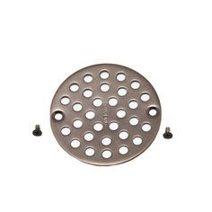 """MOEN 4 in. Shower Drain Cover for 3-3/8"""" Opening in Oil Rubbed Bronze"""