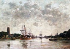 Dordrecht La Meuse View Of Swandrecht 1884 Wood Print by Boudin Eugene. All wood prints are professionally printed, packaged, and shipped within 3 - 4 business days and delivered ready-to-hang on your wall. Choose from multiple sizes and mounting options. Canvas Art For Sale, Canvas Art Prints, Famous Artists, Great Artists, Eugene Boudin, Art Database, Art Reproductions, Traditional Art, Art Gallery