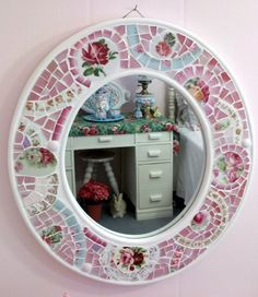 Shabby Mosaic Mirror by hillspeak, via Flickr