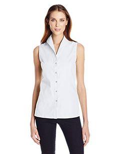 5507564284dc89 Foxcroft Women s Joanie Essential Non Iron Sleevelss Blouse. Button Down  ShirtButton ...